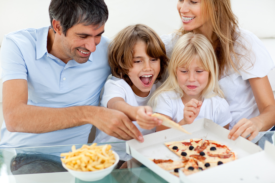 pizza day out with your family